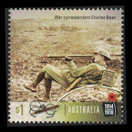 2017 Australia $1 Collectible Stamp - War Correspondent Charles Bean