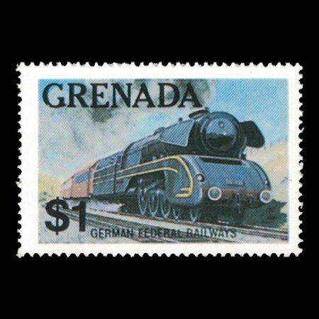 Grenada #1124 - $1 German Federal Railways Stamp