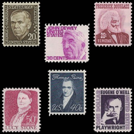 US Prominent Americans Definitive Stamp Set