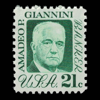 US Stamp #1400 - 21 Cent Amadeo Giannini Issue