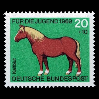 1969 German Semi-Postal Stamp #B443 - Work Horse