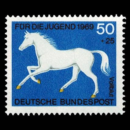 1969 German Semi-Postal Stamp B445 - Thoroughbred Horse