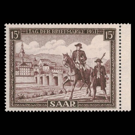 1951 Saar #227 Post Rider and Guard from Gutter Pair