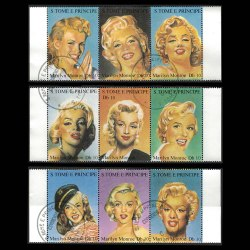 Marilyn Monroe Stamp Strips from St. Thomas and Prince Island