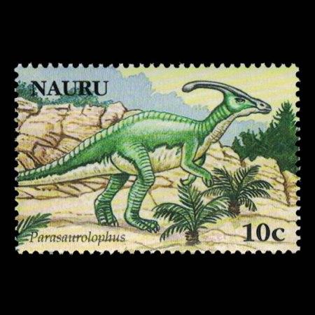 2006 Nauru Stamp #556 - 10 cent Parasaurolophus