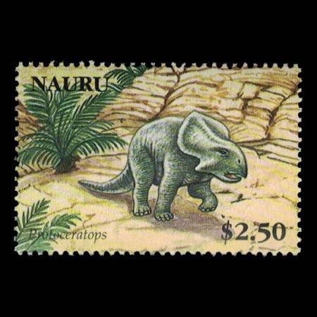 2006 Nauru Stamp #563 - $2.50 Protoceratops