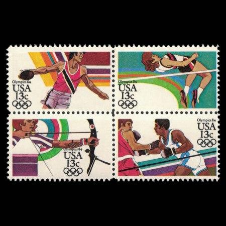1984 U.S. Summer Olympics Stamp Block of 4