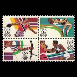 1984 U.S. Summer Olympics Stamp Block of 4