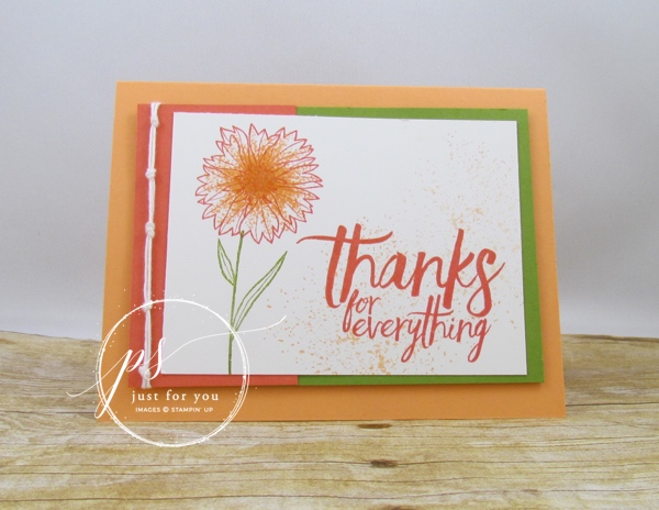 Stampin Up Peachy Touches of Texture All Things Thanks Angela Waters #Stampaftersunrise