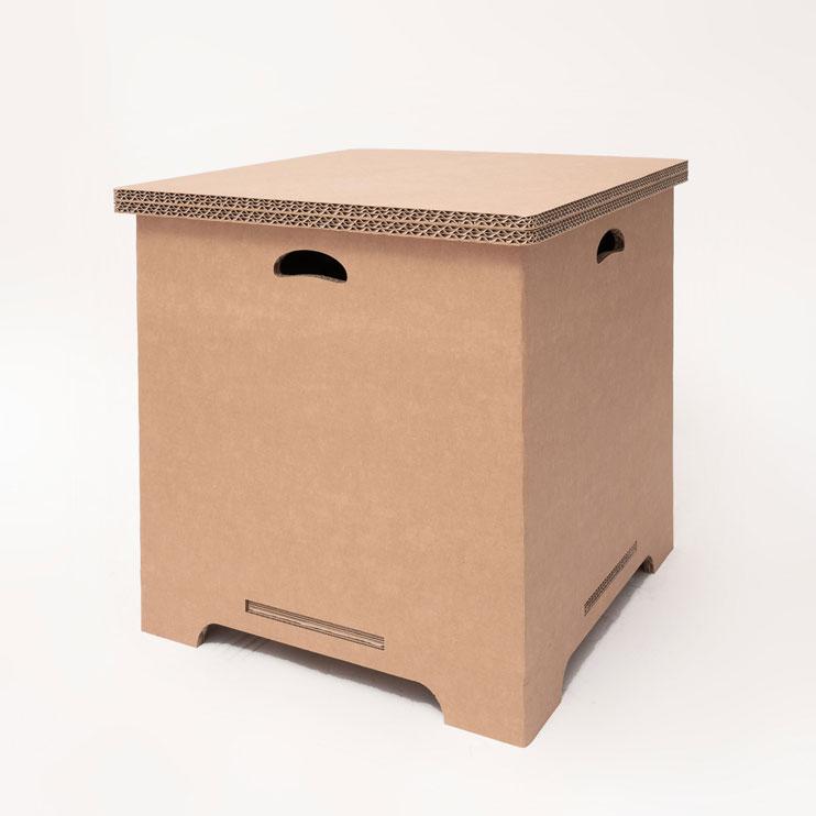Cubo contenitore grande in cartone