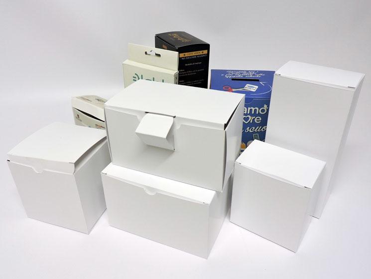 scatole packaging bianche diverse dimensioni