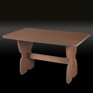 Tavolo rettangolare in cartone