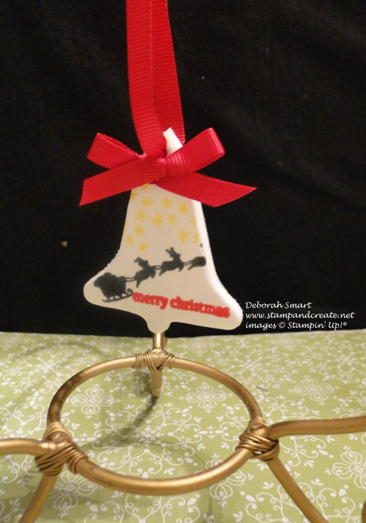 Simply Pressed Clay bell ornament