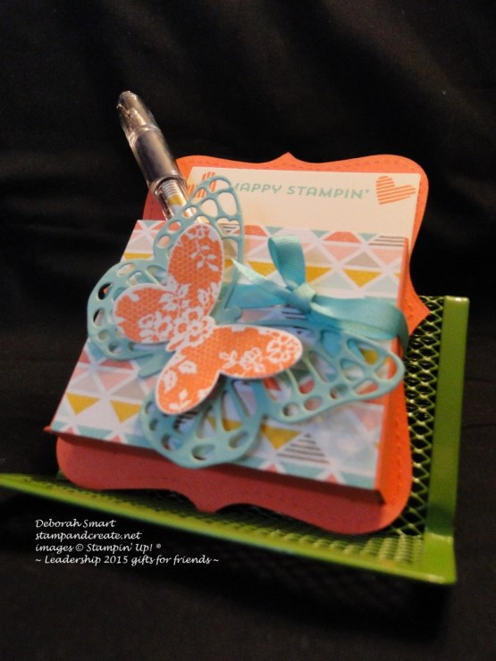 butterfly note pad holder