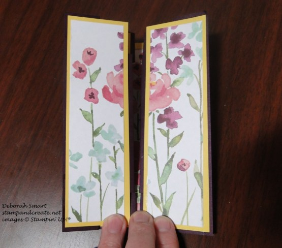 Creation Station painted blossoms card closed