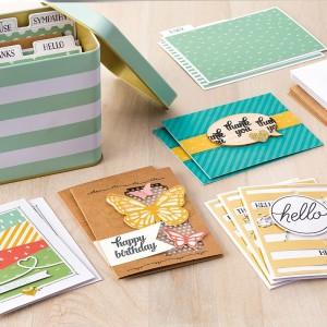 brochure tin of cards kit