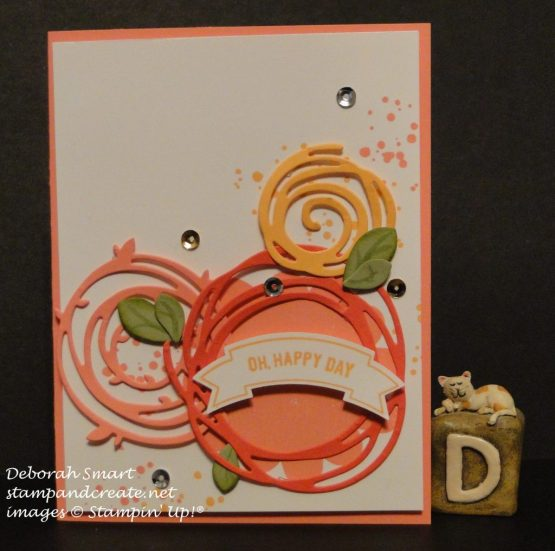 birthday card using Swirly Scribbles thinlits