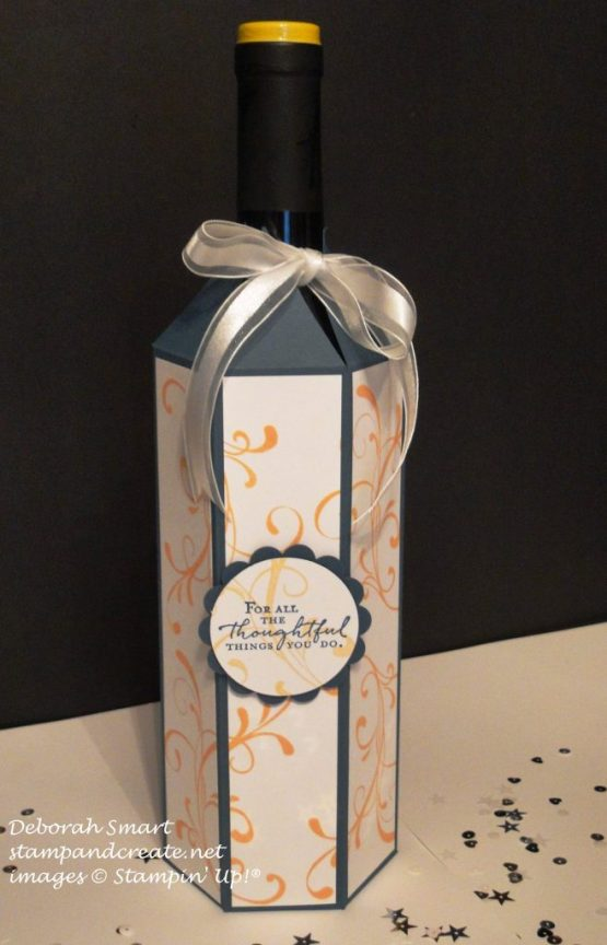 blogging friends wine bottle wrap