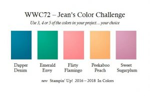 WWC72 Jean's Color Challenge - new in colors