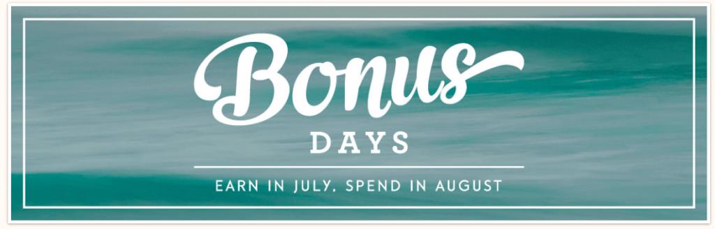 SU Bonus days preview header