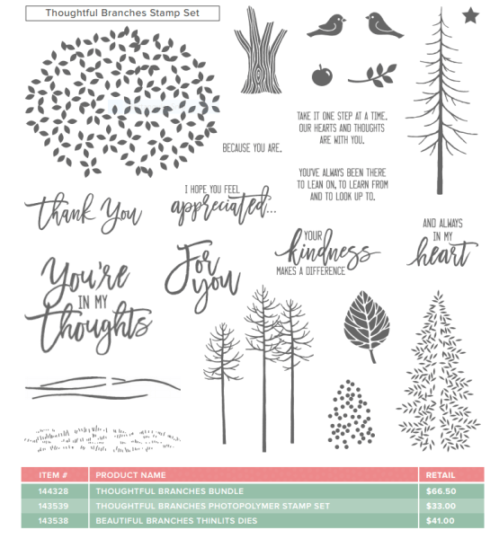 SU Thoughtful Branches stamp set