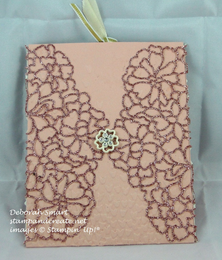 Blushing Bride Glimmer Paper featured with So Detailed Thinlits