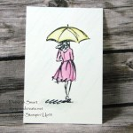 Watercolour Pencils and Beautiful You stamp