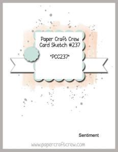 PCC237 Paper Craft Crew Sketch Challenge