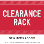 New Items added to Clearance RAck