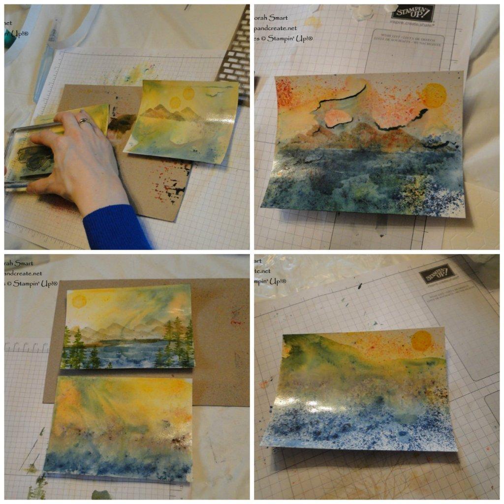 Brusho Glossy Paper Technique