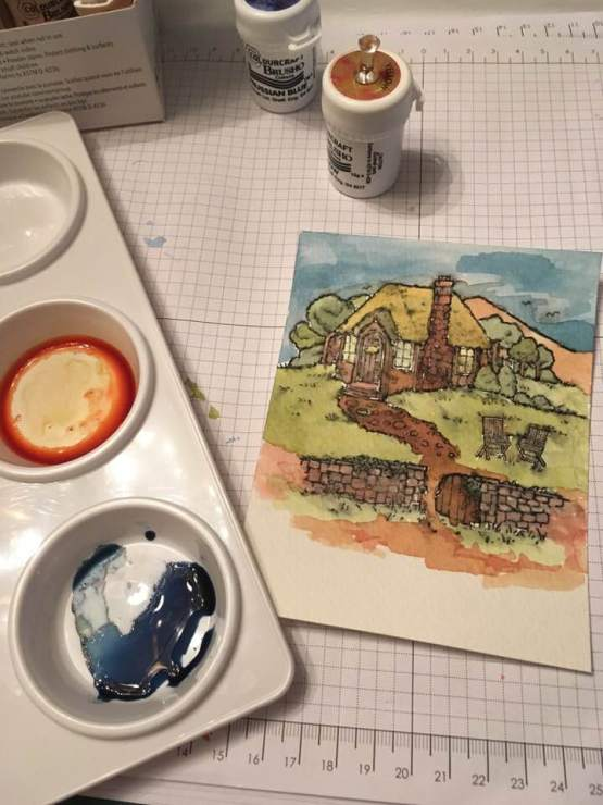 Watercoloured Cozy Cottage
