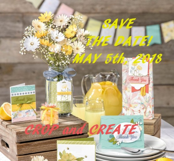 Save the Date for Crop and Create