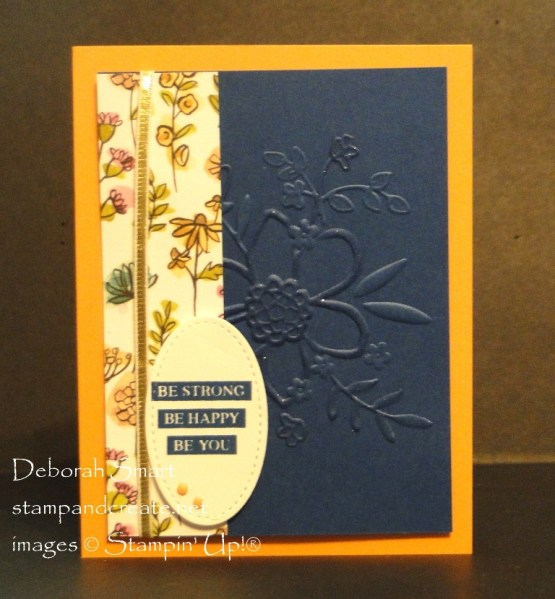 Lovely Floral Embossing Folder