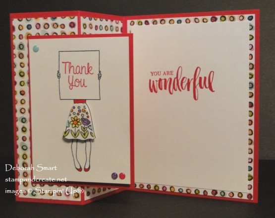 Hand Delivered Thank You Z Fold Card