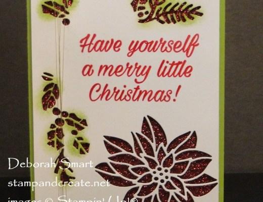 Detailed Poinsettia Thinlits Card