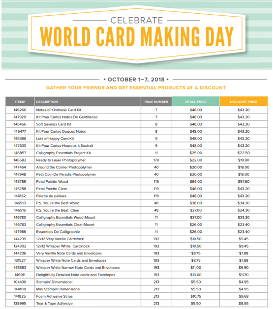 Celebrate World Cardmaking Day All Week