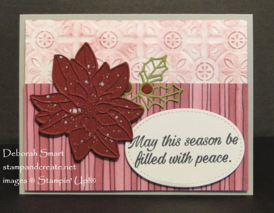 Peaceful Poinsettia Holiday Card