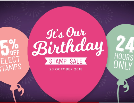 24 Hour Stampin' Up! Birthday Stamp Sale on Now!