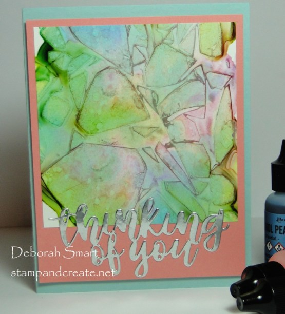 Completed WIP Alcohol Ink Background
