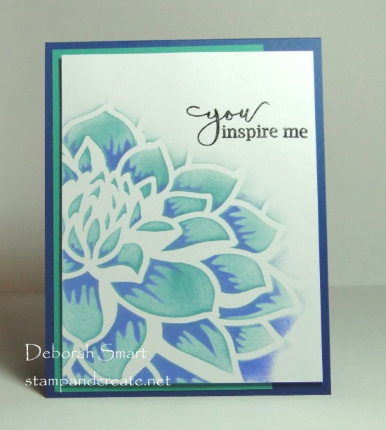 Layered Dahlia Stencils in Two New Colour Combinations