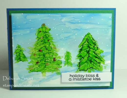 Easy Alcohol Ink Trees