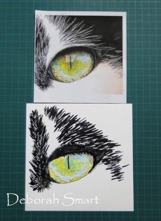Cat's Eye in Alcohol Ink