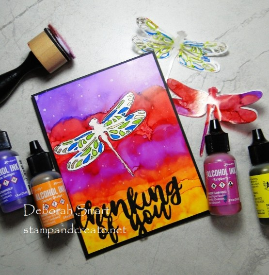 DIY Stencil and Alcohol Inks