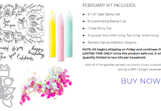 February My Monthly Hero Kit