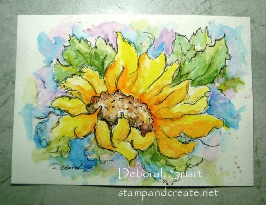 Sunflower Sketch Watercolour Complete!