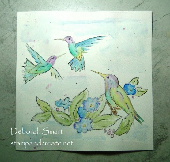 Hummingbirds in Watercolour