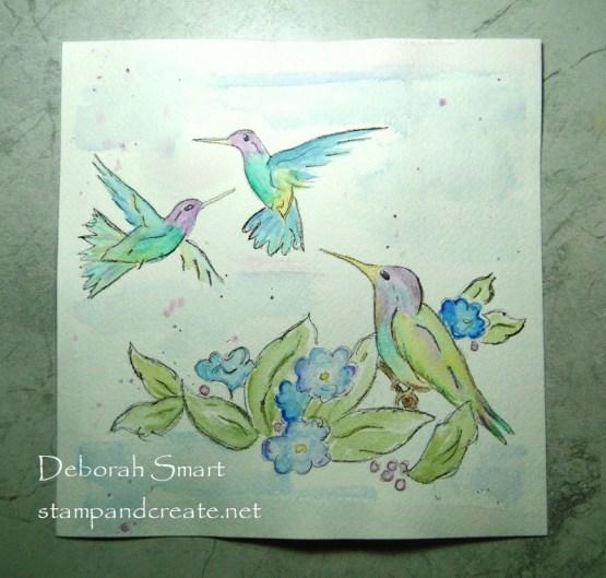 Hummingbirds in Watercolour