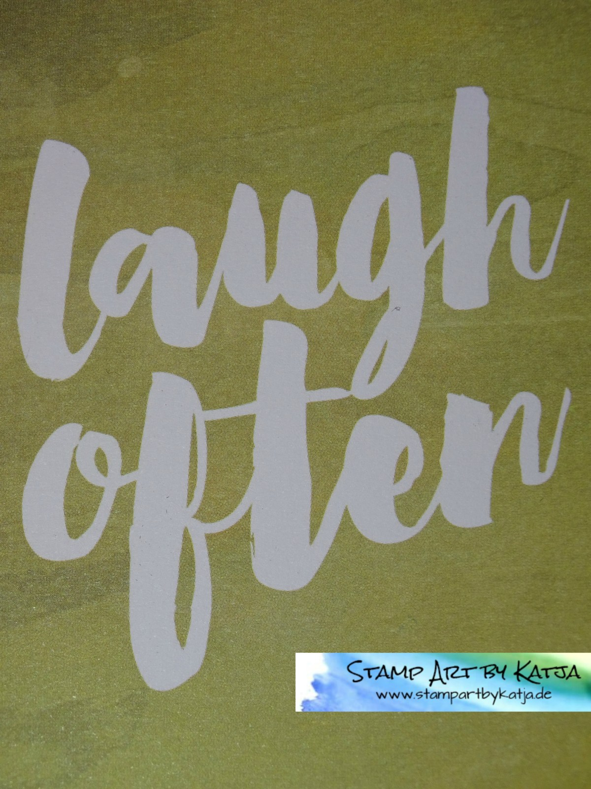 Project Life Karte – Hallo Sonnenschein – Laugh often