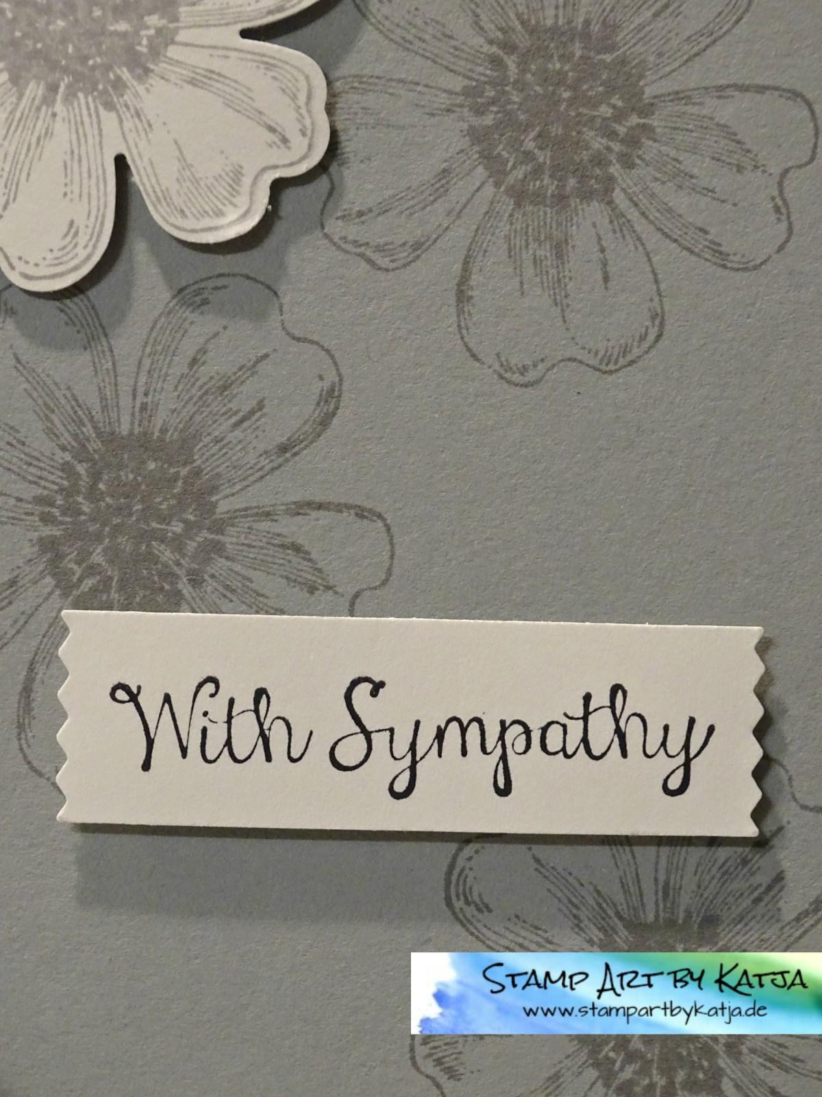 Trauerkarte mit Flowershop