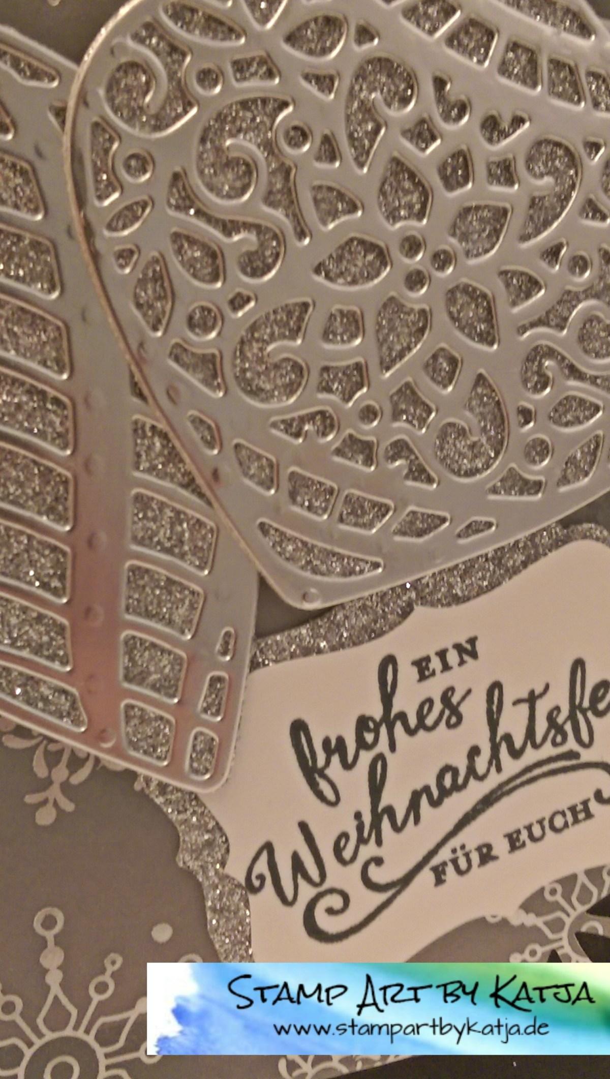 Weihnachtskarte mit den Thinlits Am Christbaum